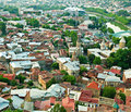 Tbilisi view of the ancient city and the capital of georgia Stock Photo