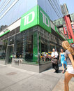 Td bank in new york city friday june pedestrians walk past n a city on wednesday july or toronto dominion is a major Stock Photography