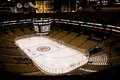 Td garden set up for hockey the a national league game boston ma Stock Image