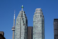 Td towers and the cn tower toronto canada th may during day Royalty Free Stock Images