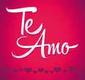 Te amo spanish love you lettering calligraphy scalable and editable vector illustration easy edit Royalty Free Stock Images