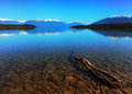 Te anau downs serene view at new zealand Stock Photo