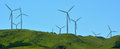 Te Apiti Wind Farm in Palmerston North, New Zealand Royalty Free Stock Photo
