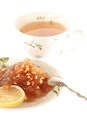 Tea with Apple jam isolated high angle Stock Image
