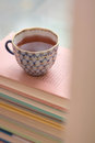 Tea and books Royalty Free Stock Photo