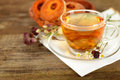 Tea border, organic food Stock Photography