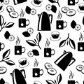 Tea break pattern seamless Royalty Free Stock Photo