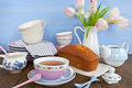 Tea and cake Royalty Free Stock Photo