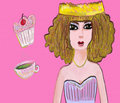 Tea and Cake Party Princess Royalty Free Stock Photo