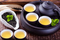 Tea ceremony chinese combination Royalty Free Stock Images