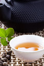 Tea ceremony chinese combination Stock Photos