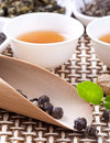 Tea ceremony chinese combination Stock Photo