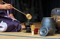 Tea ceremony a japanese woman shows the during a public demonstration Stock Photos