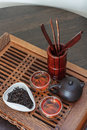 Tea ceremony set for the Stock Images