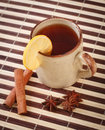 Tea with cinnamon sticks and star anise Stock Photography
