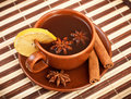 Tea with cinnamon sticks and star anise Stock Image