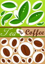 Tea and coffee background Stock Photos