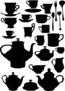 Tea and coffee dishware Stock Photos