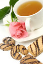 Tea and cookies Royalty Free Stock Photos