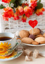 Tea and cookies with love Royalty Free Stock Image