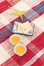 Tea and Crackers Royalty Free Stock Images