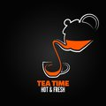 Tea cup design menu backgraund eps version Stock Photo