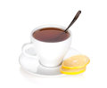 Tea cup with lemon slices Royalty Free Stock Images