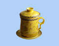 Tea cup with lid Royalty Free Stock Images