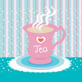 Tea cup love Royalty Free Stock Images