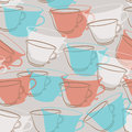 Tea cup pattern Royalty Free Stock Photo