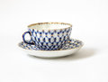Tea cup and a saucer Royalty Free Stock Photo