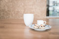 Tea cup and scone