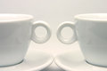 Tea cups symmetry Royalty Free Stock Photo