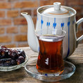 Tea with dates Royalty Free Stock Photo