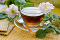Tea with dog-rose blossom Royalty Free Stock Photography