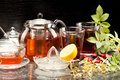 Tea fruit with rosehips and linden blossoms Royalty Free Stock Image