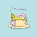 Tea is good for intestine