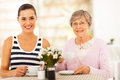Tea with grandmother Royalty Free Stock Photos