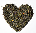 Tea heart on the white background Royalty Free Stock Photography