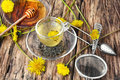Tea with honey dandelion Royalty Free Stock Photo