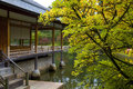 Tea house in Japanese Garden Stock Photos