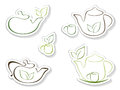 Tea icons illustration in vector Royalty Free Stock Image