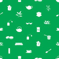 Tea icons pattern green eps Royalty Free Stock Images