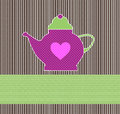 Tea invitation vintage colorful with free space for your text Royalty Free Stock Image