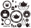 Tea isolated objects on white background vector illustration eps Royalty Free Stock Photo