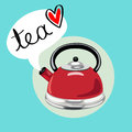 Tea kettle with Royalty Free Stock Photo