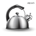 Tea kettle on white background Stock Photography