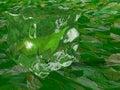 Tea leaf within ice cube Royalty Free Stock Photo