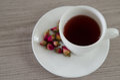 Tea made from tea rose petals