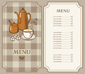 Tea menu Royalty Free Stock Photo